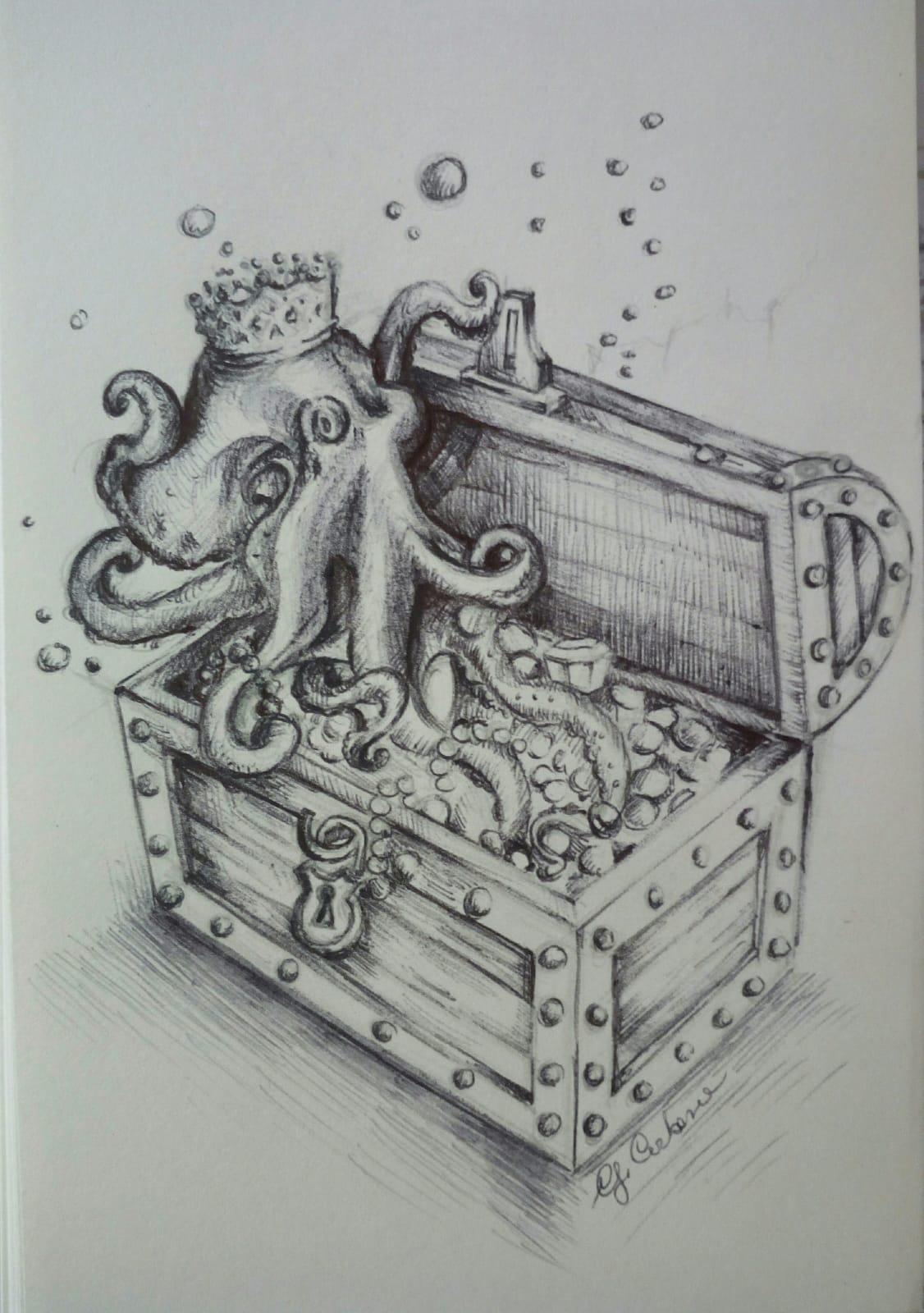 Sagra del Polpo, marchio di fabbrica molese(Disegno originale di Giulia Carbone)